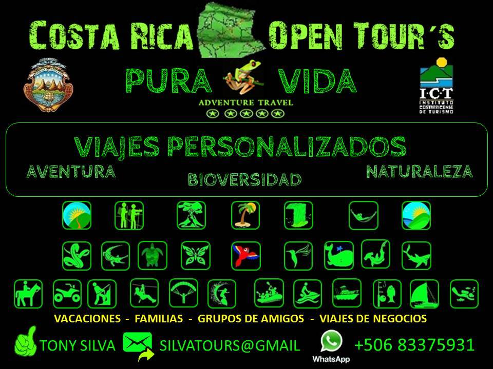 open tours costa rica