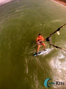 Kiteboarding First meters