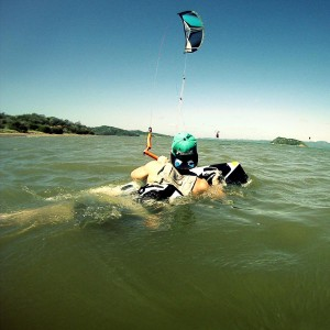 Body-drag kiteboarding