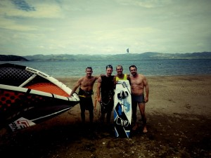 Lesson done kiteboarding